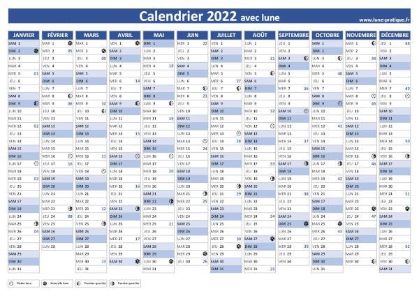 Calendrier Pleine Lune Juillet 2022 Calendrier lunaire 2022 🌙 à consulter et imprimer
