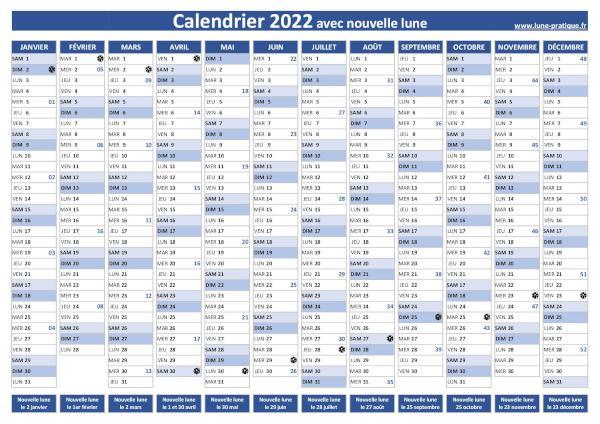 Calendrier Nouvelle Lune 2022 Nouvelle lune 2022